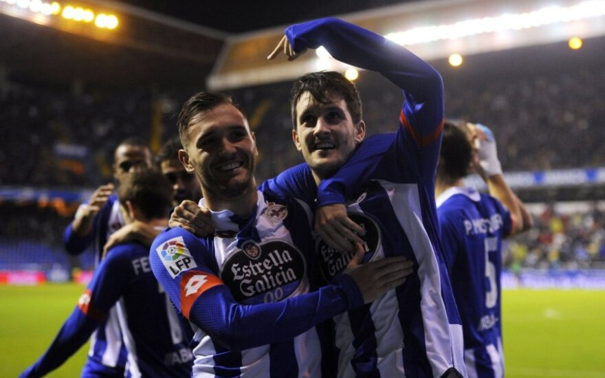 """La Korunjos """"Deportivo"""" klubo futbolininkai"""