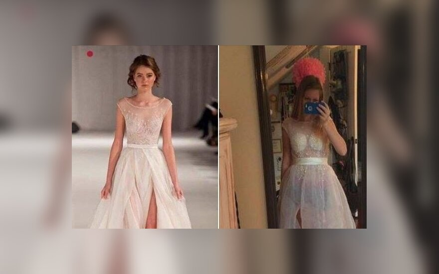 Suknelė, parsisiųsta iš Kinijos