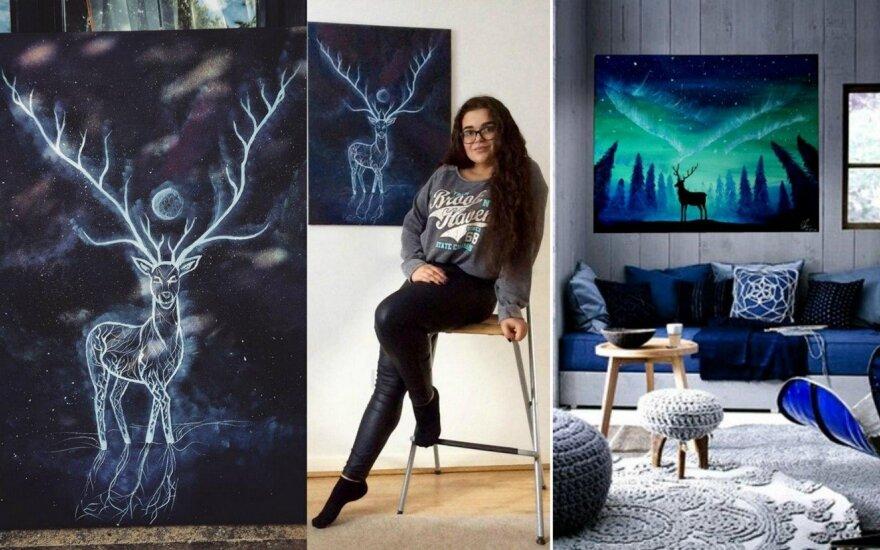 Mediciną Londone studijuojanti lietuvė stebina fantastiškais paveikslais