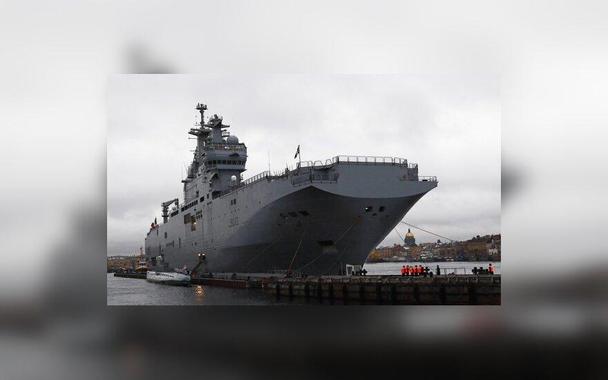 """""""WikiLeaks"""": JAV reiškė susirūpinimą dėl Prancūzijos karo laivo pardavimo Rusijai"""
