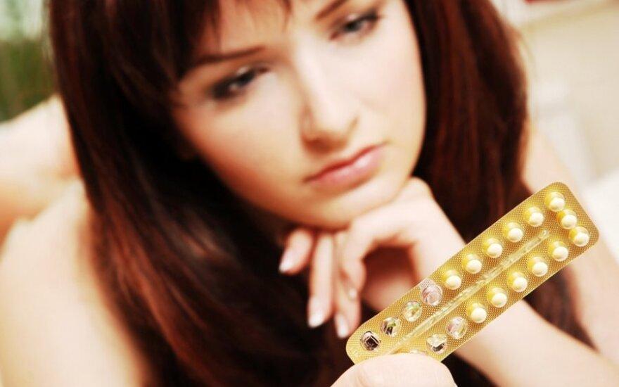 Hormoninė kontracepcija keičia moters smegenis
