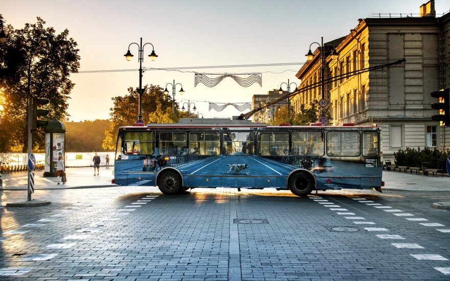 Vilnius Street Art troleibusas
