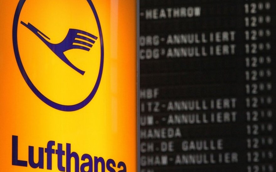 """Streikuojant pilotams, """"Lufthansa"""" ir toliau neskraidina iš Vilniaus"""