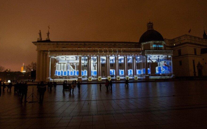 Kiekvieną vakarą Vilniaus Katedros aikštėje užburs 3D Kalėdų pasaka