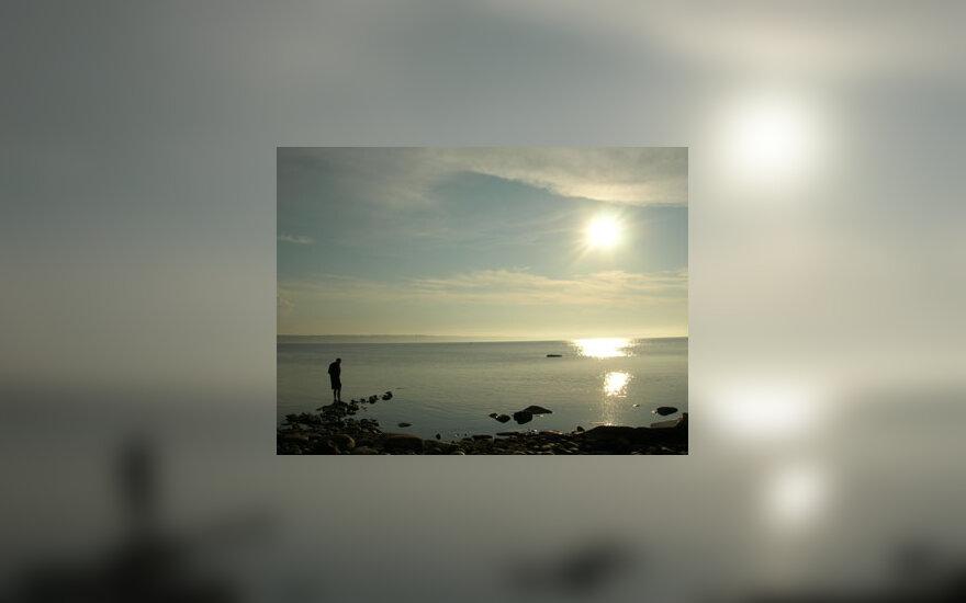 Jūra, saulėlydis, vasara, poilsis, atostogos