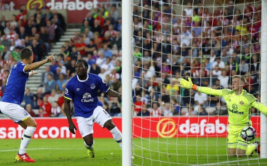 """Anglijoje – R. Lukaku šou, pakylėjęs """"Everton"""" į trečią vietą"""