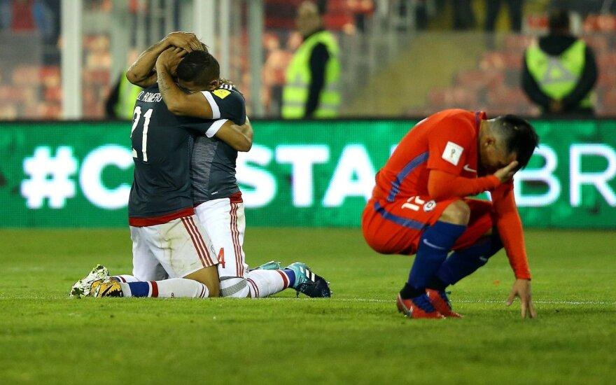 Paragvajus sutriuškino Čilės futbolininkus
