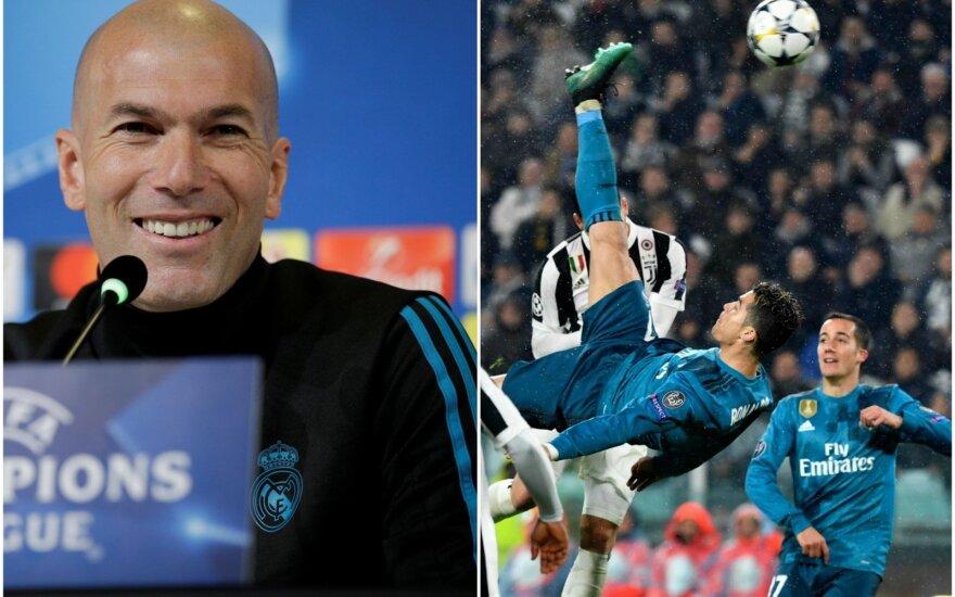 Zinedine Zidane ir Cristiano Ronaldo