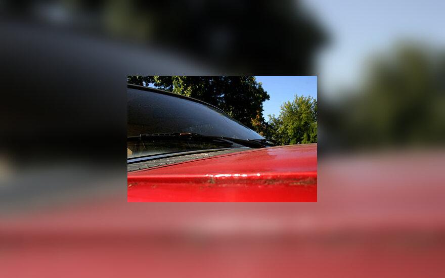 Automobilis, priekinis stiklas, transportas