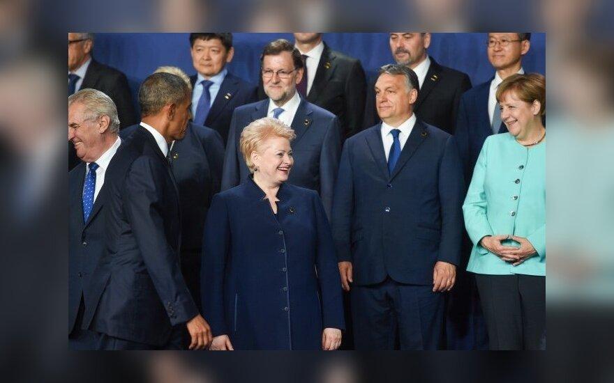 Iš kairės: Barackas Obama, Dalia Grybauskaitė, Viktoras Orbanas, Angela Merkel