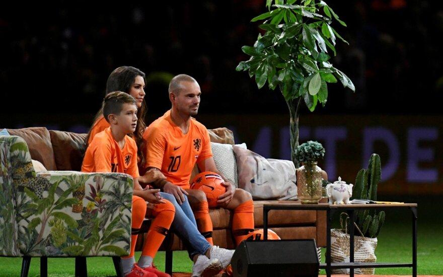 Wesley Sneijderis neįprastai atsisveikino su Nyderlandų rinktine