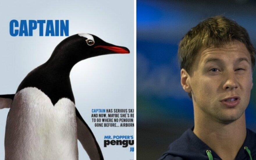 """""""Pono Poperio pingvinas"""" ir Ričardas Berankis"""