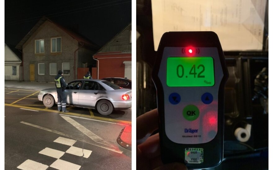 Reidas Kaune: įkliuvo net septyni gėrimų padauginę drąsuoliai, vienam jų itin nepasisekė