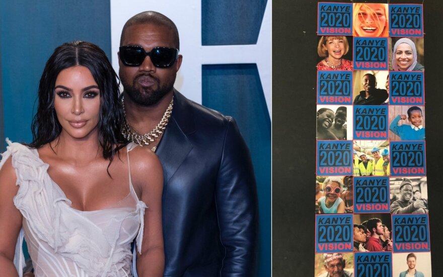 Kim Kardashian ir Kanye Westas, jo rinkimų į prezidentus reklama /Foto: Vida press, Twitter