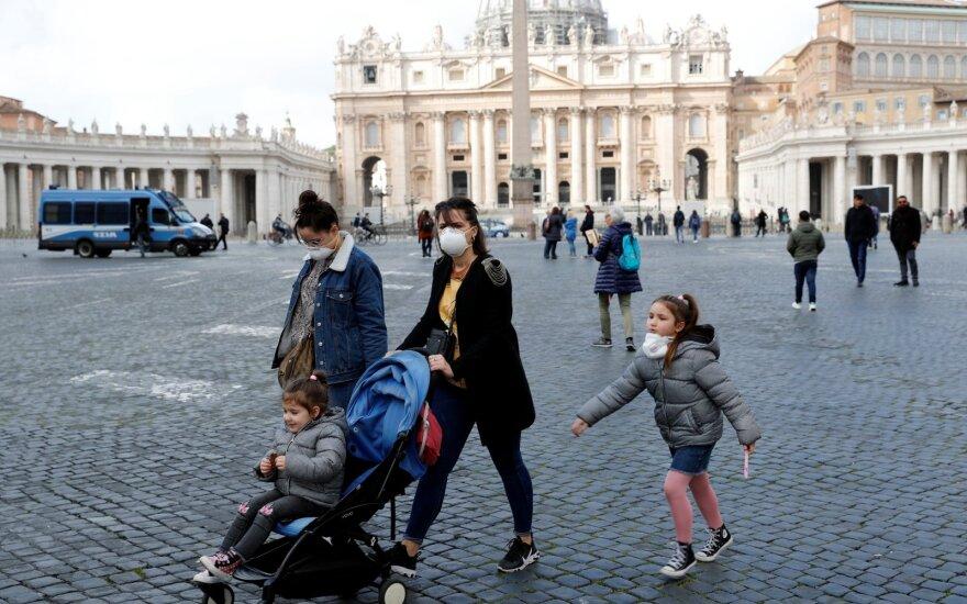 PSO giria Italijos pastangas viruso plitimui stabdyti