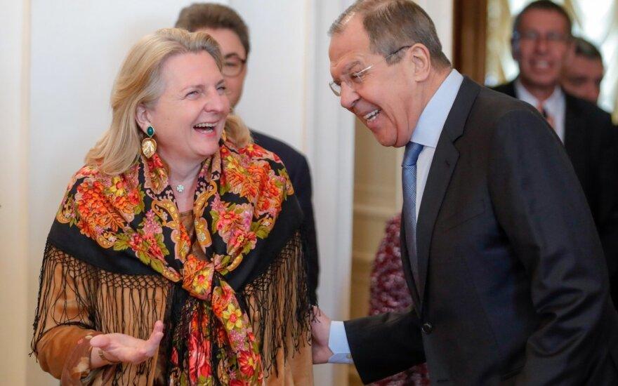 Karin Kneissl, Sergejus Lavrovas