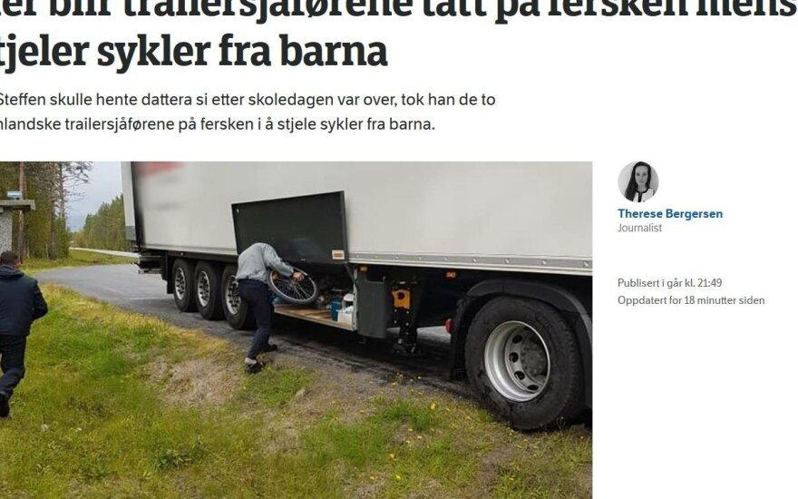 """Garsios lietuvių įmonės vairuotojai """"prasisuko"""" Norvegijoje: vaikų akivaizdoje pavogė jų dviračius"""