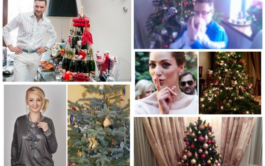 Garsių žmonių Kalėdų eglės