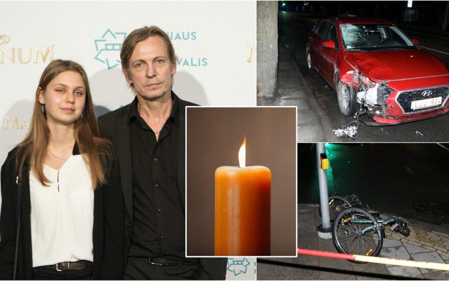 Naktį neblaivaus vairuotojo mirtinai sužalota vilnietė dviratininkė – Šarūno Barto dukra