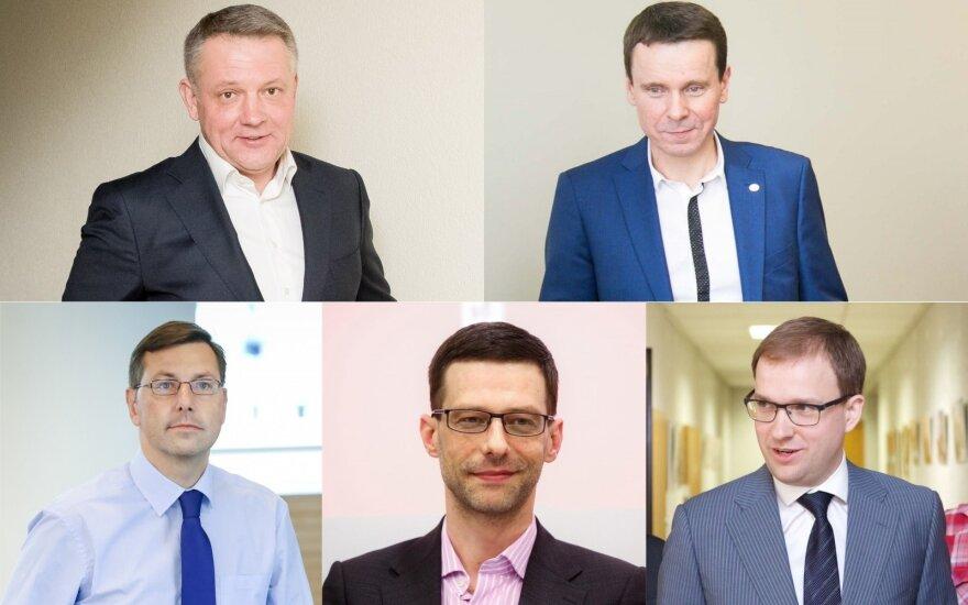 Eligijus Masiulis, Raimondas Kurlianskis, Gintaras Steponavičius, Šarūnas Gustainis, Vytautas Gapšys