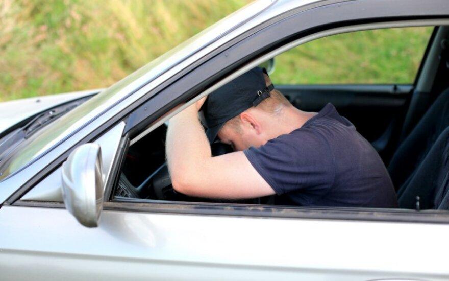 girtas vairuotojas
