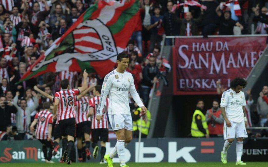 Madrido futbolininkai pralaimėjo Bilbao mieste