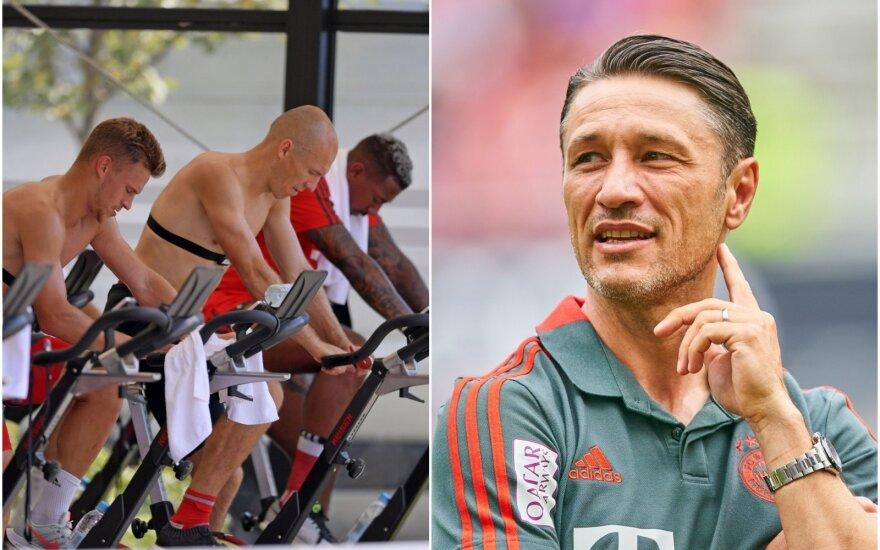 """""""Bayern"""" žaidėjai treniruotėje, Niko Kovačas"""