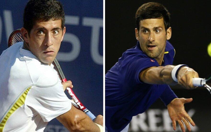 Hansas Podlipnikas-Castillo ir Novakas Djokovičius atsidūrė įtarimų šešėlyje (Reuters/latercera.com nuotr.)