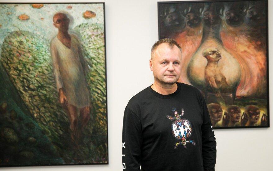 Personalinėje dailės parodoje S. Urbonavičius–Samas atskleidė kitą savo asmenybės pusę