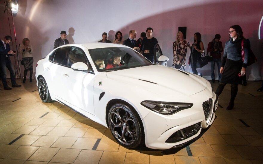 """Vilniuje pristatyta """"Alfa Romeo Giulia"""""""