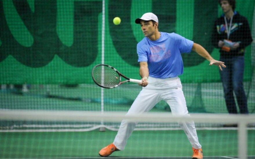 """Pasibaigė pirma ITF senjorų turnyro """"Vilniaus taurė 2014"""" diena"""