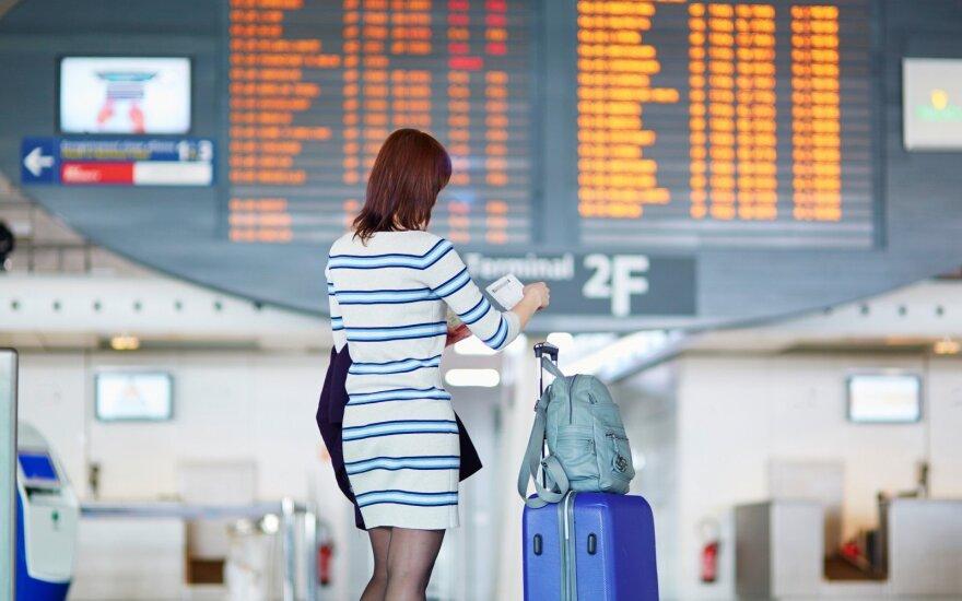 Keleivių nepasitenkinimas: praleidusiems išvykstamąjį skrydį, grįžtamasis skrydis anuliuojamas