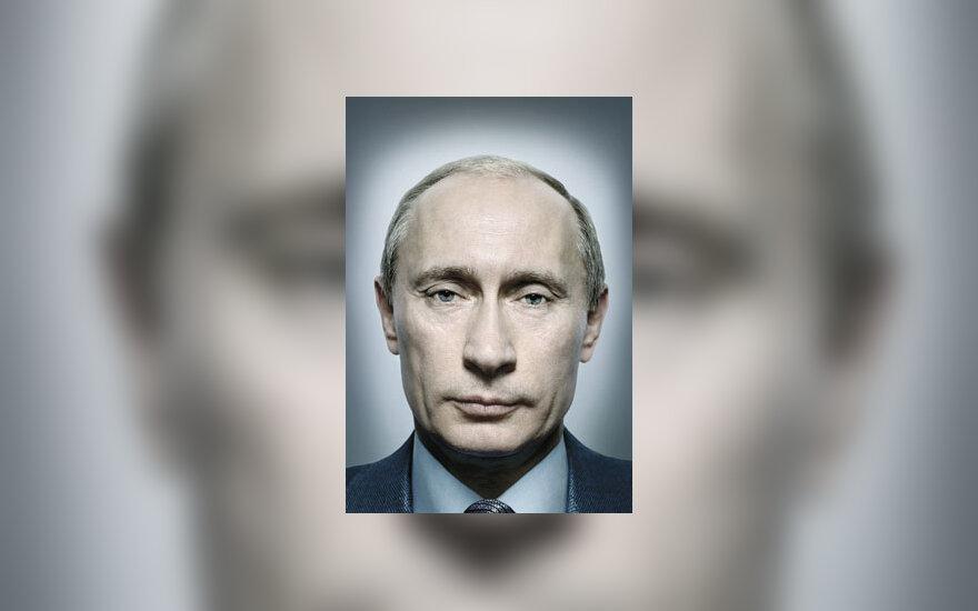 """Vladimiro Putino portretas ant žurnalo """"Time"""" viršelio"""