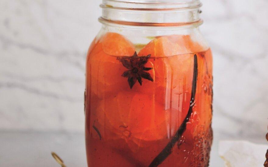 Mandarinai su cinamonu ir šafranu