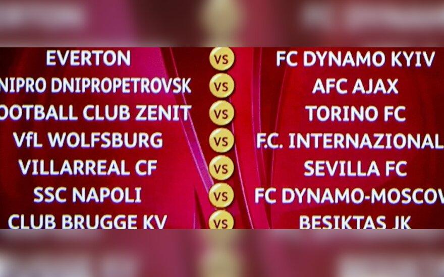 UEFA Europos lygos aštuntfinalio poros