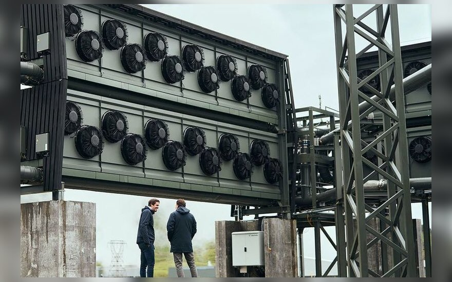CO2 surinkimo mašina. Climeworks nuotr.