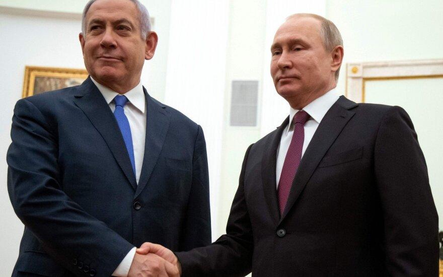 Benjaminas Netanyahu ir Vladimiras Putinas
