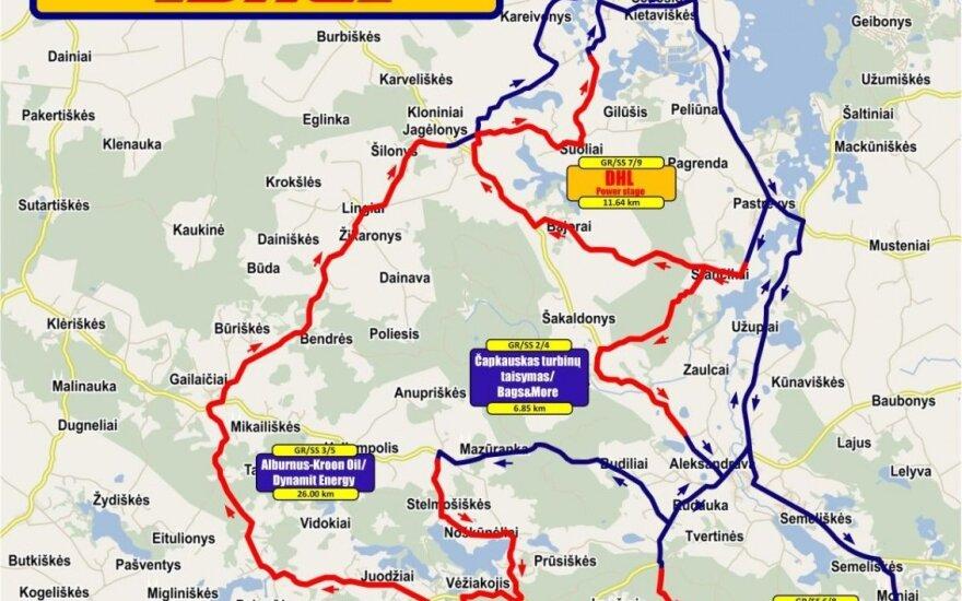 Bendras ralio žemėlapis
