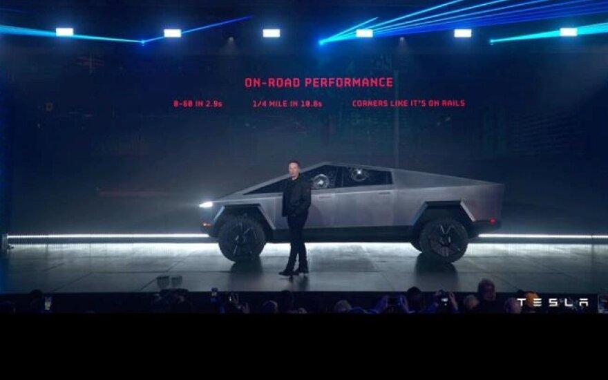 """Tesla Cybertruck"" pristatymas"
