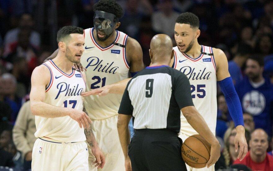 """Filadelfijos """"76ers"""" ekipa"""
