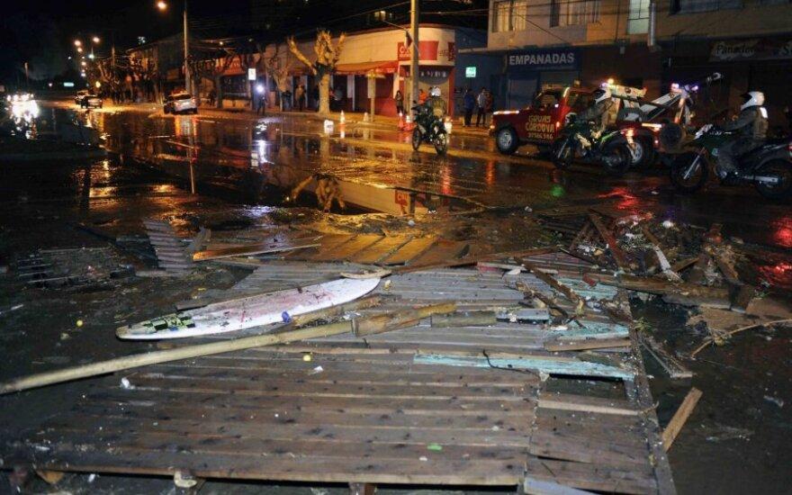 Čilę supurtė stiprus žemės drebėjimas: paskelbtas cunamio pavojus