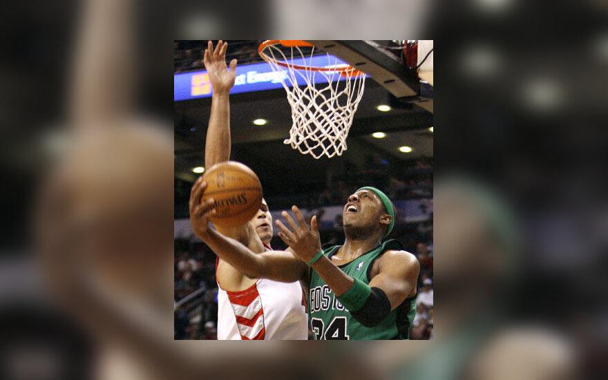 """Atakuoja Paulas Pierce'as (""""Celtics"""")"""