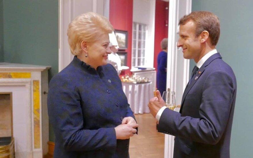 Dalia Grybauskaitė ir Emmanuelis Macronas