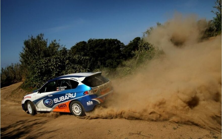 D. Butvilas išbando automobilį Portugalijoje