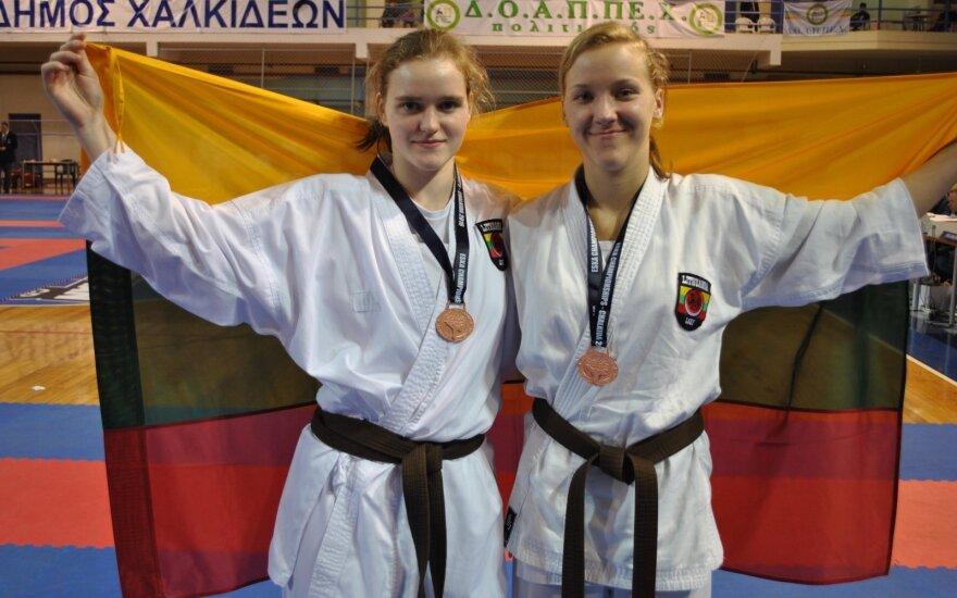 Iš Europos šotokan karate čempionato – bronzos medaliai