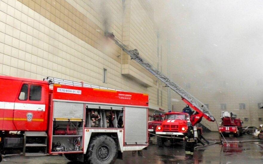 Tyrėjai: Rusijoje sudegęs prekybos centras buvo pastatytas savavališkai ir neteisėtai