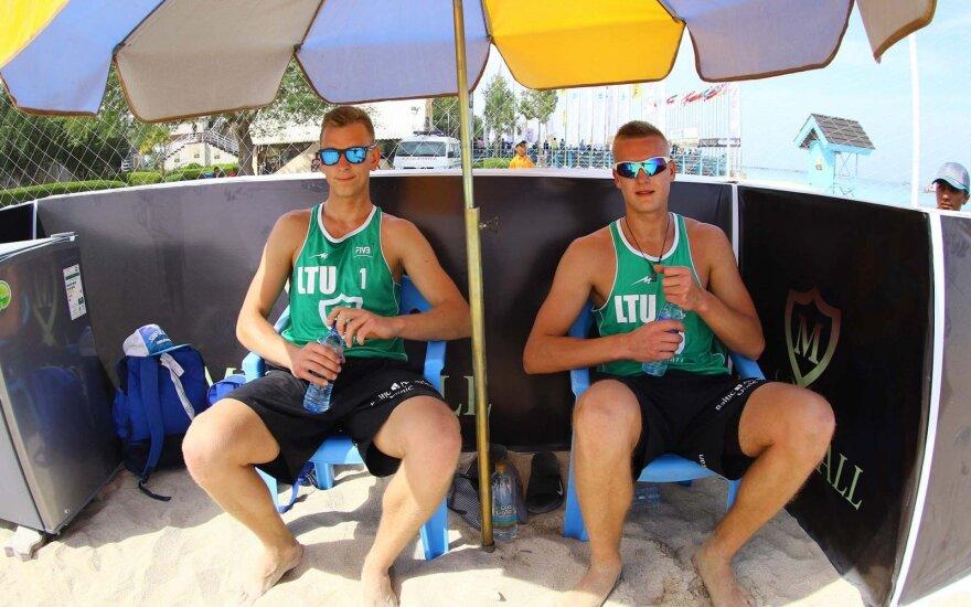 Arnas Rumševičius ir Lukas Každailis turnyre Irane
