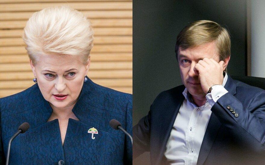 Ar verslo paveikti politikai išgirs Grybauskaitės raginimą