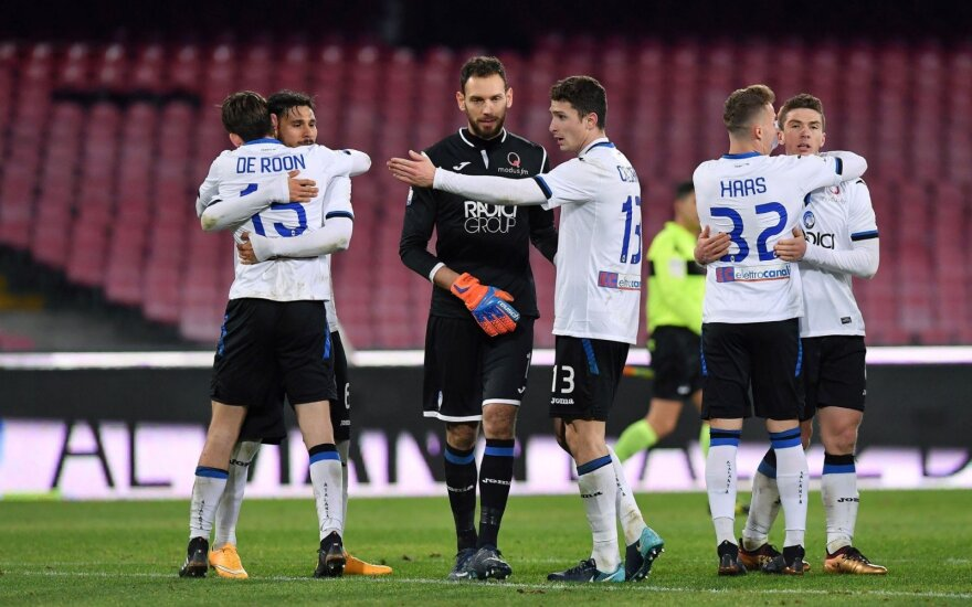 """""""Atalanta"""" futbolininkai džiaugiasi pergale prieš """"Napoli¨"""