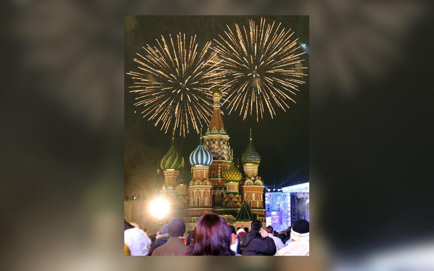 Maskvos Raudonoji aikštė, fejerverkai